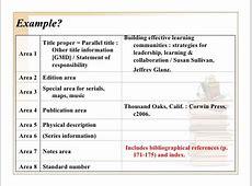 Descriptive cataloging Overview