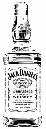 Daniels Jack Clipart Bottle Whiskey Pyrography Silhouette Clip Stencil Stencils Tattoo Whisky Daniel Garrafa Cricut Vinyl Bar Sketch Vector Cameo sketch template
