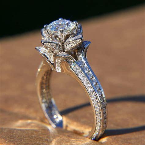 Luxury Diamond Wedding Ring ♥ Unique Engagement Ring