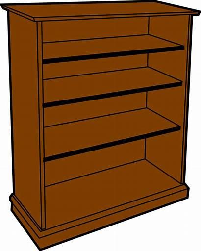 Furniture Storage Wood Bookcase Shelves Pixabay Vector