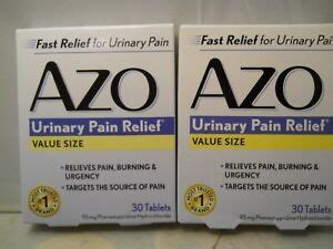 AZO Urinary Pain Relief Tablets,Value Size, 30 Count EA ...