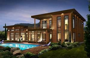 maison moderne h0me sweet home pinterest chalets With amazing maison bois et pierre 0 maison moderne maison en pierre pierre et bois