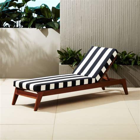filaki black  white striped chaise lounge  accent