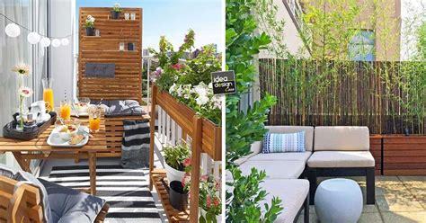come coprire un terrazzo privacy sul balcone ecco 20 idee lasciatevi ispirare