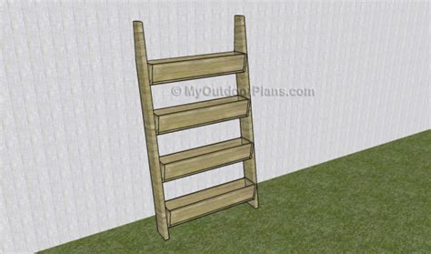 vertical tiered planter ladder plans myoutdoorplans