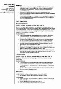 medical technologist cv resume example how to write a cv With how to make a medical resume