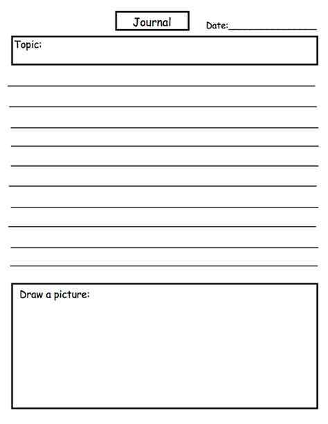 Best Photos Of Journal Writing Template  Holiday Writing