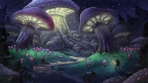 Colorful Mushroom Forest Drawings Mushroom Forest By ...