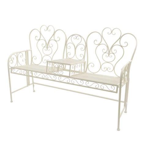 panchina ferro battuto panchina william in ferro battuto ecru piccolo mobilio