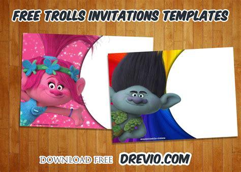 Trolls Invitation Templates Free by Free Trolls Birthday Invitations Templates Free