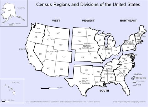 united states bureau of the census us census regions sas graph gmap
