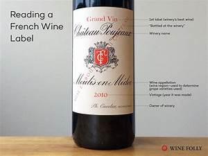 understanding french wine labels and terms wine folly With how to make wine labels