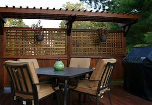 Outdoor   Attractive Privacy Ideas For Decks Giving Chic