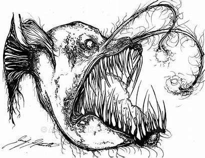 Fish Angler Hell Inked Deviantart