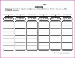 Timeline Worksheet For 3rd Grade