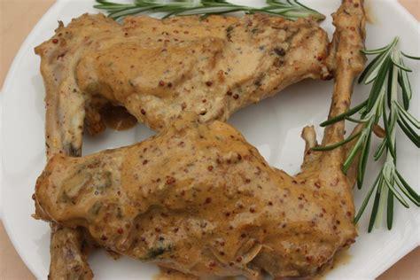 cuisiner le lapin à la moutarde recette de lapin à la moutarde par alain ducasse