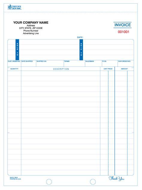 invcc  snap  part invoice carbonless