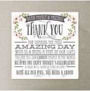 Thank You Place Card Wedding Reception Place Setting Card Thank Your Gratitude And Thank Them For Their Gift Or Thank Them For You Ideas Thank You Cards Wedding Thank You Gifts Wedding Thank You How To Write A Wedding Thank You Card Archives A Wedding Breeze