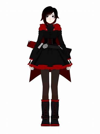 Rwby Ruby Cosplay Turnaround Anime Rose Clipart