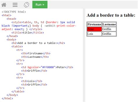 html border color java why is chrome not printing table and cell