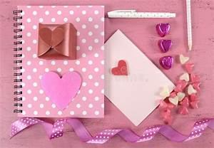 Writing Love Letters And Cards For Happy Valentines Day ...