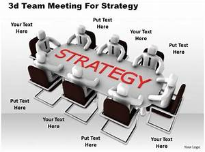 1013 3d Team Meeting For Strategy Ppt Graphics Icons