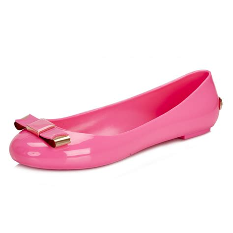 ted baker womens pink caelan flat shoes