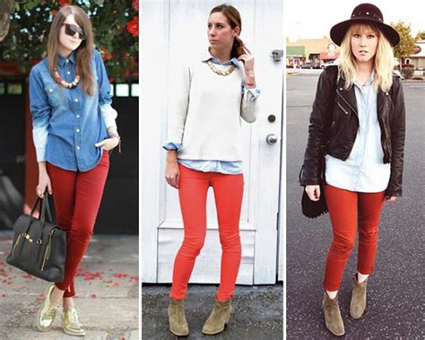 Cu00f3mo combinar pantalones rojos?