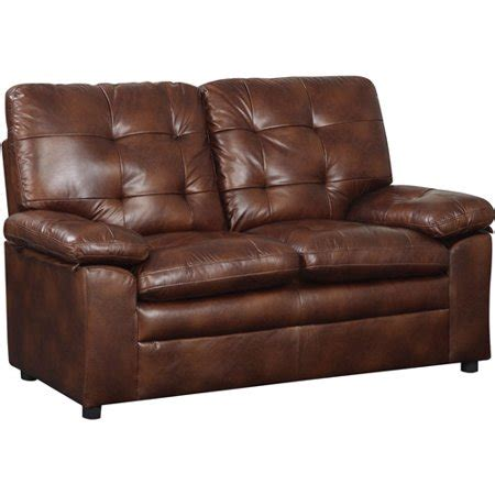Buchannan Faux Leather Loveseat by Buchannan Faux Leather Loveseat Colors Walmart