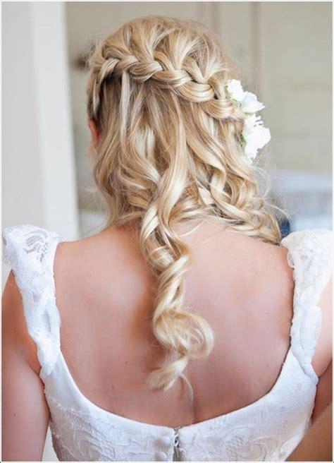 bride hairstyles with braids half up half down wedding hairstyles 50 stylish ideas
