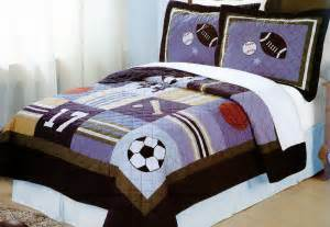 sports bedding all state twin or full quilt sets with shams for boys