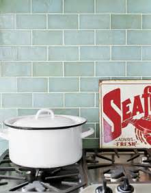 Kitchen With Glass Tile Backsplash Shorely Chic Blue Glass Subway Tile