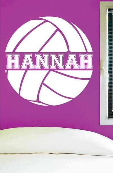 custom volleyball wall decal  personalized