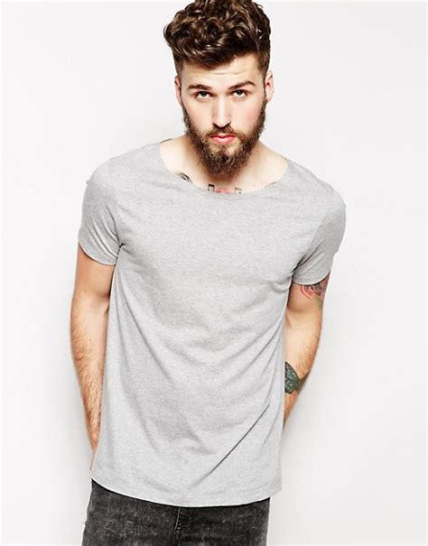Boat Neck T Shirt For Mens by Asos Asos T Shirt With Wide Boat Neck
