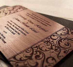 wedding invitations laser engraved wood by cristysstudio With how much are engraved wedding invitations