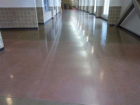 entertainment convention center polished concrete stained
