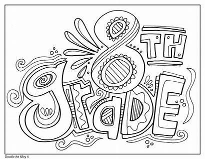 Grade 8th Signs Doodles Classroom