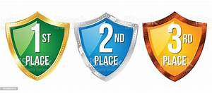1st, 2nd, And, 3rd, Place, Award, Icons, Stock, Illustration