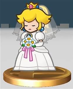 princess peach in wedding gown mario ideas pinterest With princess peach wedding dress