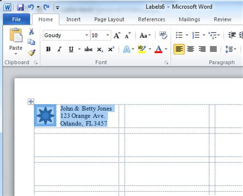 Labels With Ms Word Ms Office 2007 Resume Templates Reaphii