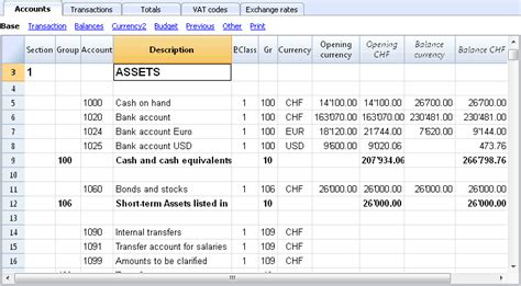 foreign currency account comparison the multi currency chart of accounts banana accounting