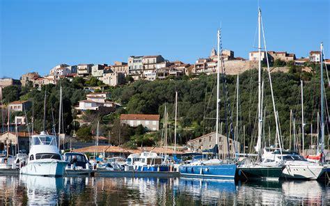 the city center and the port porto vecchio south corsica
