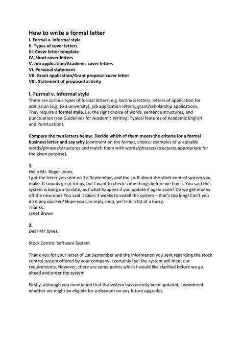 business formal letter examples  examples