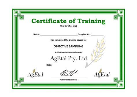 training certificate template  planner template