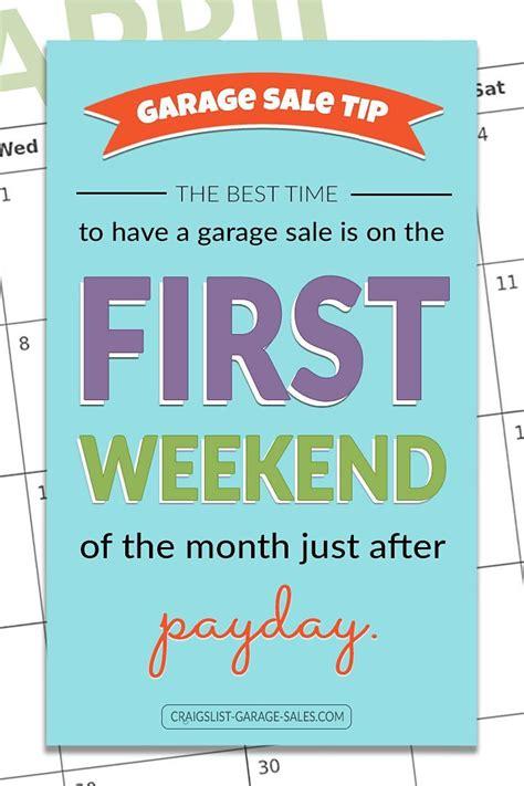 pin  craigslist garage sales