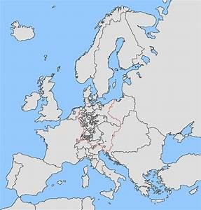 Political Blank Map Of Europe 2012