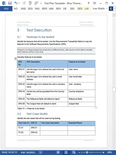 Test Plan Template Test Plan Templates 29 Page Ms Word 3 Excel Spreadsheets