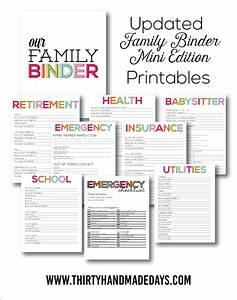 Home Organization Printables - The Idea Room