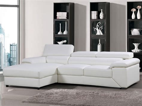 canape angle cuir blanc canapé d 39 angle cuir reconstitué pvc quot quot 4 places