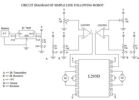 Line Following Robot Using Logic Gates